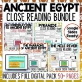 Ancient Egypt Reading Comprehension Passages and Questions BUNDLE