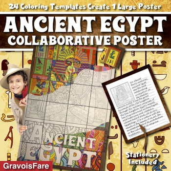 Ancient Egypt Collaborative Poster: Activity, Craft, and Bulletin Board