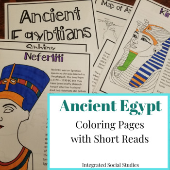 Ancient Egypt Coloring Pages with Short Reads
