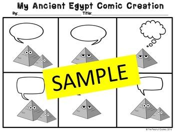 Ancient Egypt Comic Strip Templates