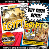Ancient Egypt Complete Unit and Google Ready Combined Activity Bundle