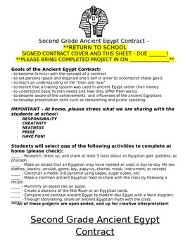 Ancient Egypt Contract Project
