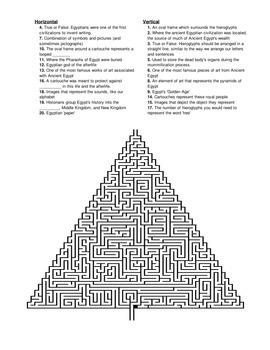 Ancient Egypt Crossword Puzzle