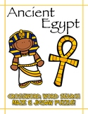 Ancient Egypt - Crossword, word search, maze, jigsaw puzzl