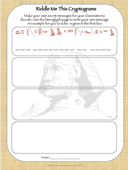 Ancient Egypt Cryptogram Puzzles