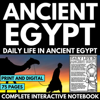 Ancient Egypt Unit - Daily Life in Ancient Egypt - Questions and Poster Project