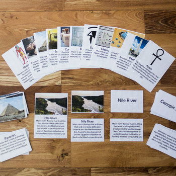 Ancient Egypt Definition Matching Cards and Games