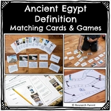 Ancient Egypt Definition Cards