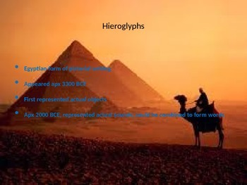 Ancient Egypt: Development of Writing Hieroglyph PowerPoint Presentation