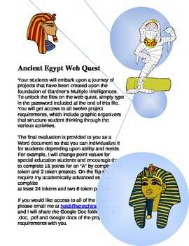 Ancient Egypt Differentiated Web Quest