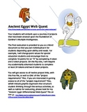 Ancient Egypt Differentiated Web Quest Introduction