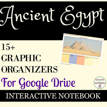 Ancient Egypt Digital Interactive Notebook Graphic Organizers for Google Drive