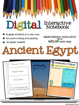Ancient Egypt Digital Interactive Notebook for Google Drive