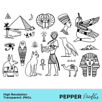 Ancient Egypt Doodle Clipart