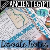 Ancient Egypt Doodle Notes