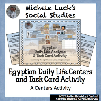 Ancient Egypt & Egyptian Daily Life Activity with Task Cards