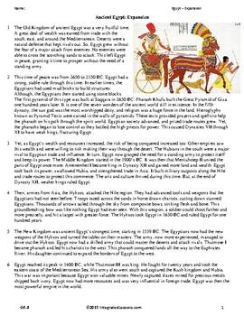Ancient Egypt: Expansion - Grade 6