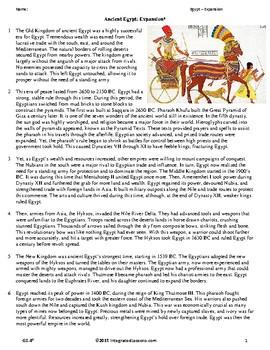 Ancient Egypt: Expansion - Grade 8