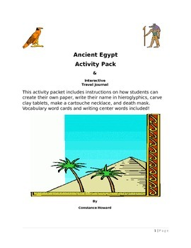 Ancient Egypt Extension Activity Packet