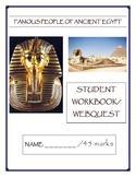 Ancient Egypt-Famous People Research Booklet/Webquest