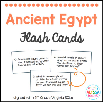 Ancient Egypt Flash Cards