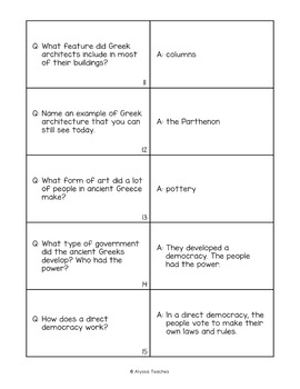 Ancient Greece Flash Cards