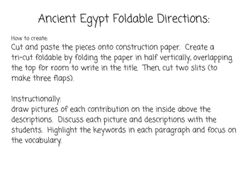 Ancient Egypt Foldable