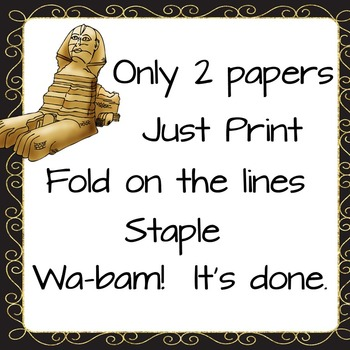 Ancient Egypt Foldable  Pre-printed (Flip Book)