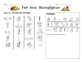 Ancient Egypt: Fun with Hieroglyphics Worksheet