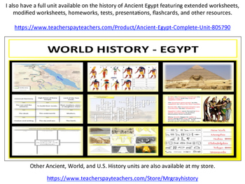 Ancient Egypt - Geography & Map