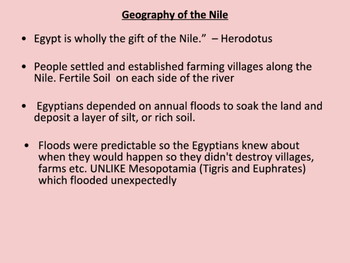 Ancient Egypt Geography Slideshow