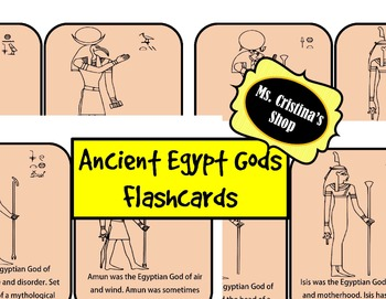 Ancient Egypt Gods Flashcards