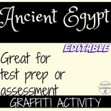Ancient Egypt One Pager Graffiti Activity EDITABLE