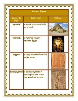 Ancient Egypt Graphic Organizer