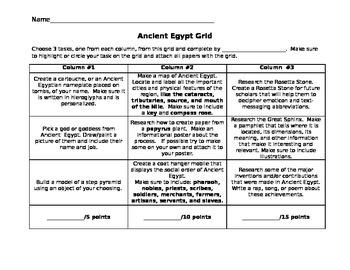 Ancient Egypt Grid