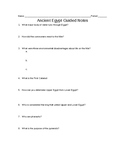 Ancient Egypt Guided Notes