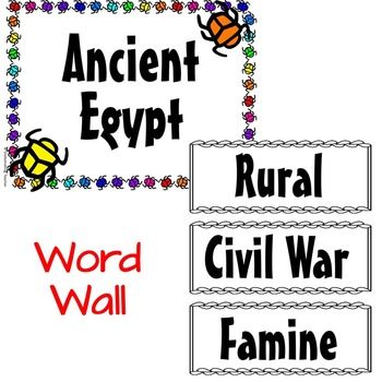 Ancient Egypt Guided Reading, Vocabulary, Quiz, and Test (Harcourt)