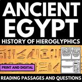Ancient Egypt Unit - Hieroglyphics - Questions, Information, Project