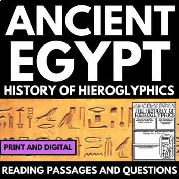 Ancient Egypt Unit - Hieroglyphics - Questions, Informatio