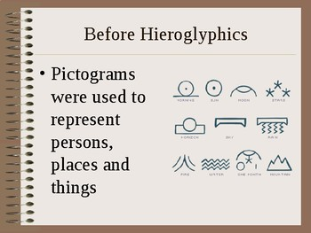 Ancient Egypt - Hieroglyphics