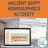 Ancient Egypt Hieroglyphics Activity for Google Drive