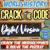 Ancient Egypt Hieroglyphics DIGITAL Escape Room Crack the
