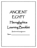 Ancient Egypt-Hieroglyphics Student-Led Learning Booklet &