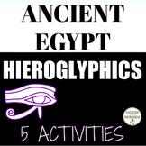 Ancient Egypt Hieroglyphics and the Rosetta Stone Activities