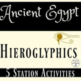 Ancient Egypt Hieroglyphics and the Rosetta Stone 5 Activi