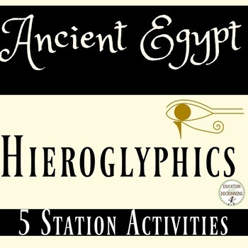 Ancient Egypt Hieroglyphics and the Rosetta Stone Activiti