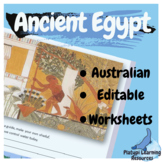 Ancient Egypt Editable Worksheets Year 7 and 8 Australian