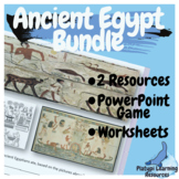 Ancient Egypt Worksheets and PowerPoint Escape Room Bundle