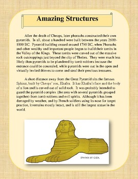 Ancient Egypt Independent Learning Centers (Complete Unit)