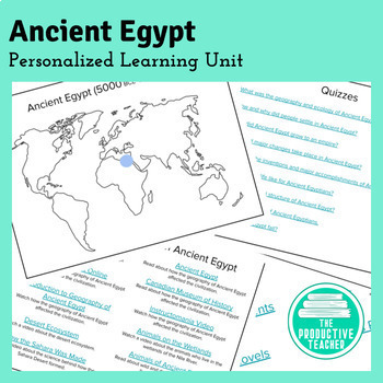 Ancient Egypt: Independent Study Unit